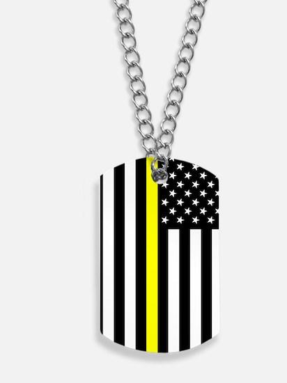U.S. Flag: Thin Yellow Line Dog Tags