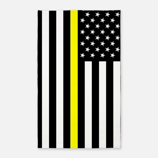 U.S. Flag: Thin Yellow Line Area Rug