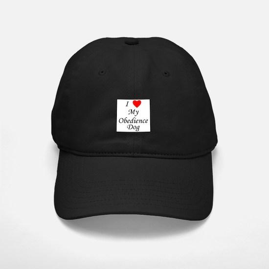 I Love My Obedience Dog Baseball Hat