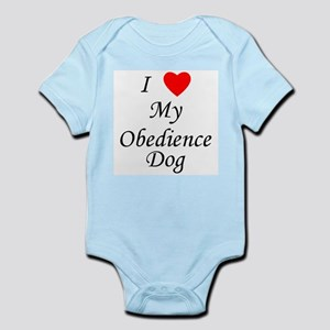 I Love My Obedience Dog Infant Bodysuit