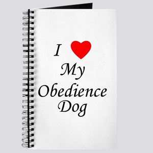 I Love My Obedience Dog Journal