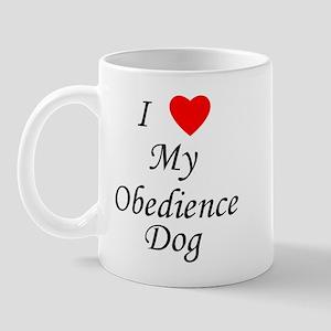 I Love My Obedience Dog Mug