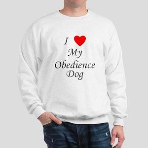 I Love My Obedience Dog Sweatshirt