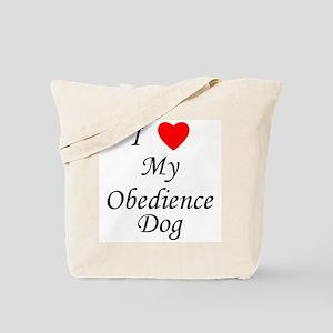 I Love My Obedience Dog Tote Bag