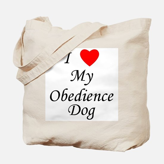 I Love My Obedience Dog Tote Bag