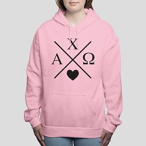 Alpha Chi Omega Cross Women's Hooded Sweatshirt