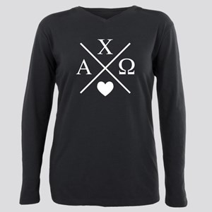 Alpha Chi Omega Cross Plus Size Long Sleeve Tee