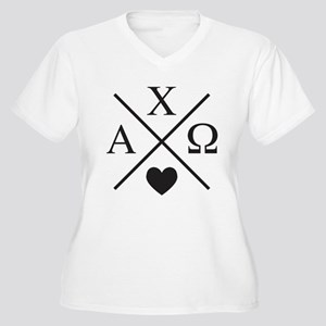 Alpha Chi Omega C Women's Plus Size V-Neck T-Shirt