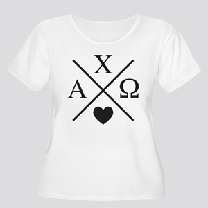 Alpha Chi Ome Women's Plus Size Scoop Neck T-Shirt