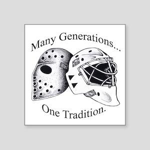 Goalie Masks Logo Sticker