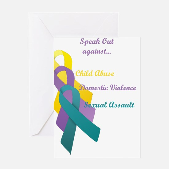 Speak Out Greeting Card