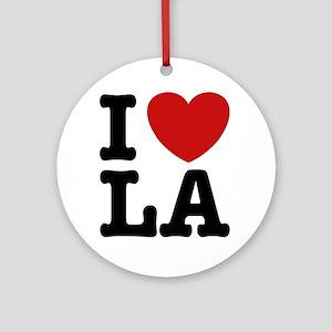 I Love LA Ornament (Round)