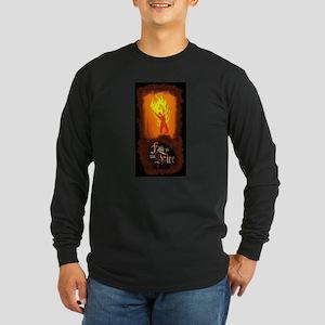 Burning Man Long Sleeve Dark T-Shirt