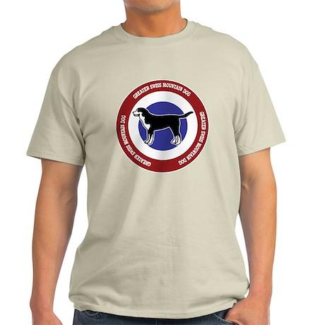 Greater Swiss Mountain Dog Bullseye Light T-Shirt