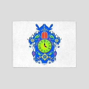 Cuckoo clock 5'x7'Area Rug