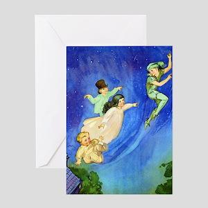 PETER PAN - FLYING Greeting Card