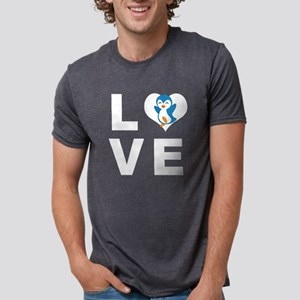 Penguin Love Mens Tri-blend T-Shirt