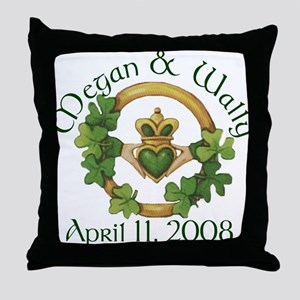 Shamrock Claddagh Throw Pillow