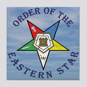 OES Star in the clouds Tile Coaster