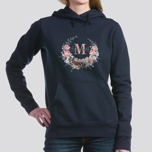 Peach Floral Wreath Monogram Sweatshirt