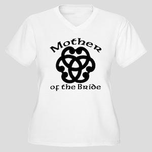 Celtic Knot Bride's Mother Women's Plus Size V-Nec
