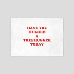 hug a treehugger 5'x7'Area Rug
