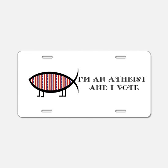 Atheist Voter Aluminum License Plate