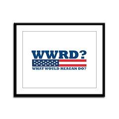 WWRD? Framed Panel Print