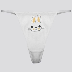 Easter Bunny Face Funny Pascha Holid Classic Thong