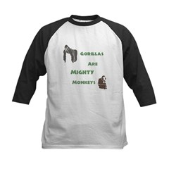 Gorillas Are Mighty Monkeys Kids Baseball Jersey