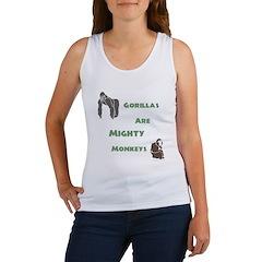 Gorillas Are Mighty Monkeys Women's Tank Top