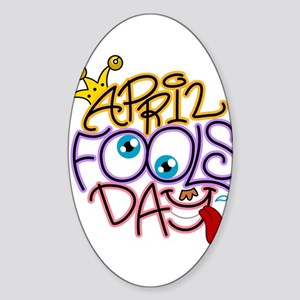 Illustration Celebrating April Fool Sticker