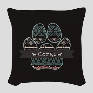 Corgi Woven Throw Pillow
