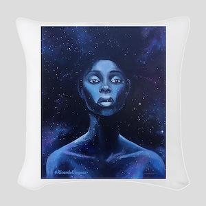 Melanina Cosmica Woven Throw Pillow