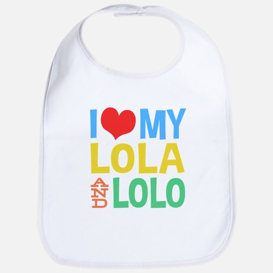 I Love My Lola and Lolo Baby Bib