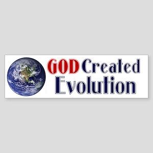 God Created Evolution Bumper Sticker