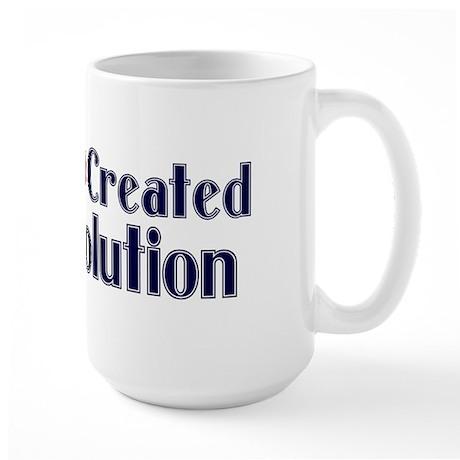 God Created Evolution Large Mug