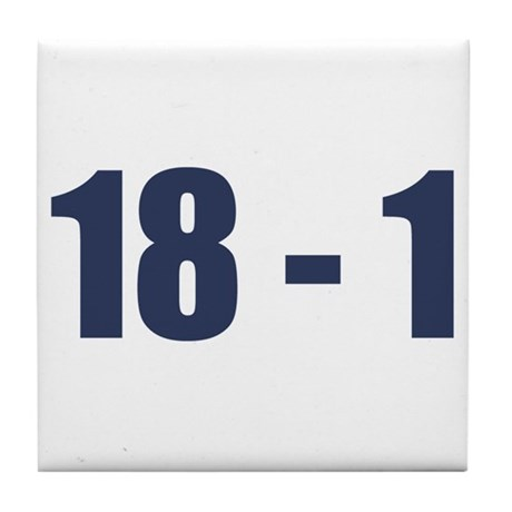 NY Giants Super Bowl Champs (18-1) Tile Coaster