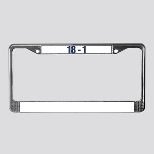 NY Giants Super Bowl Champs (18-1) License Plate F