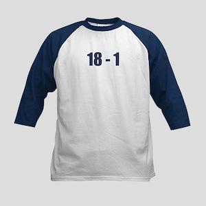 NY Giants Super Bowl Champs (18-1) Kids Baseball J