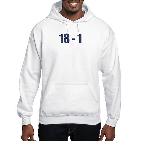 NY Giants Super Bowl Champs (18-1) Hooded Sweatshi