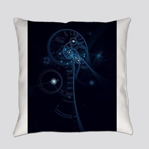 Blue Abstract Human Brain & Spinal Everyday Pillow