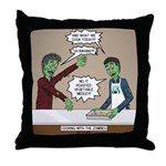 Cooking with the Zombies Throw Pillow