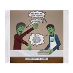 Cooking with the Zombies Throw Blanket