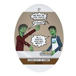 Cooking with the Zombies Oval Ornament