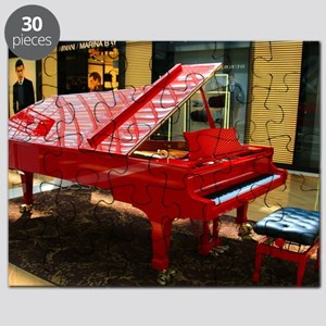 Simply red: grand piano Puzzle
