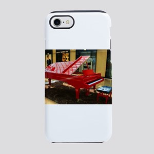 Simply red: grand piano iPhone 8/7 Tough Case