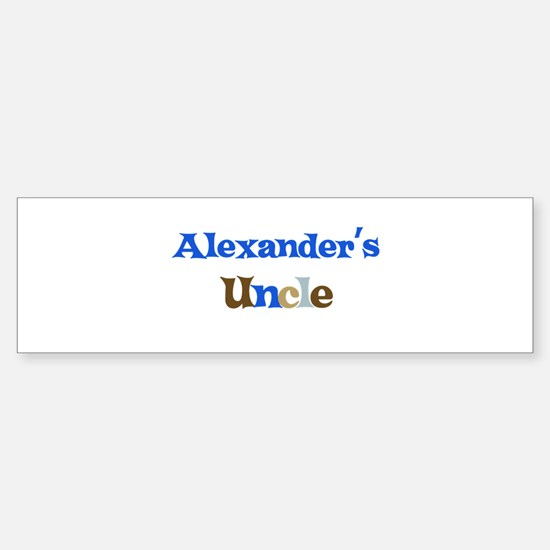 Alexander's Uncle Bumper Bumper Bumper Sticker