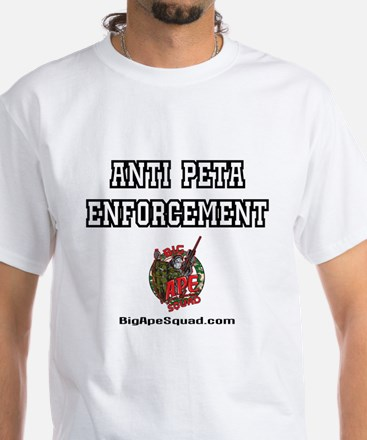 Anti Peta Gut Pile Style Hunting White T-Shirt