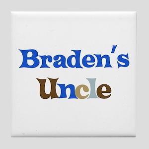 Braden's Uncle  Tile Coaster